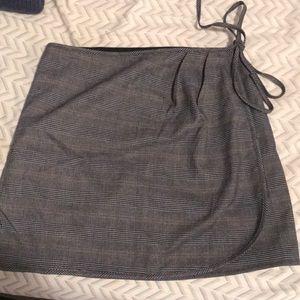 Dresses & Skirts - Plaid mini wrap skirt